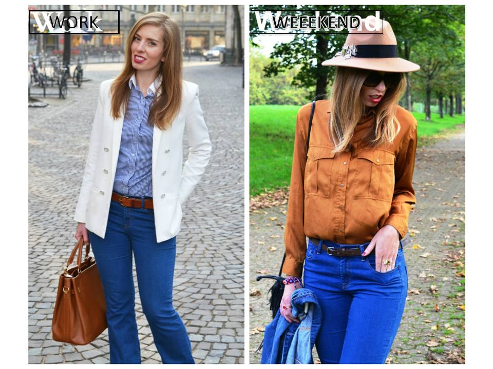 Work/Weekend Outfit: Die Bootcut-Jeans
