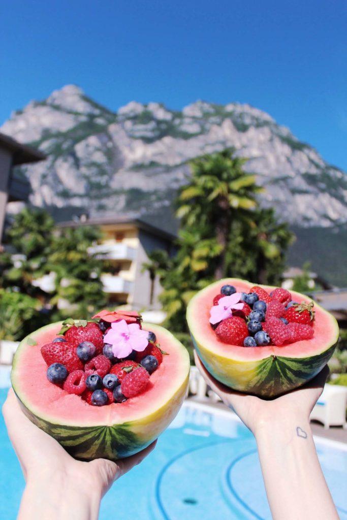 Wassermelone im Hotel Villa Nicolli