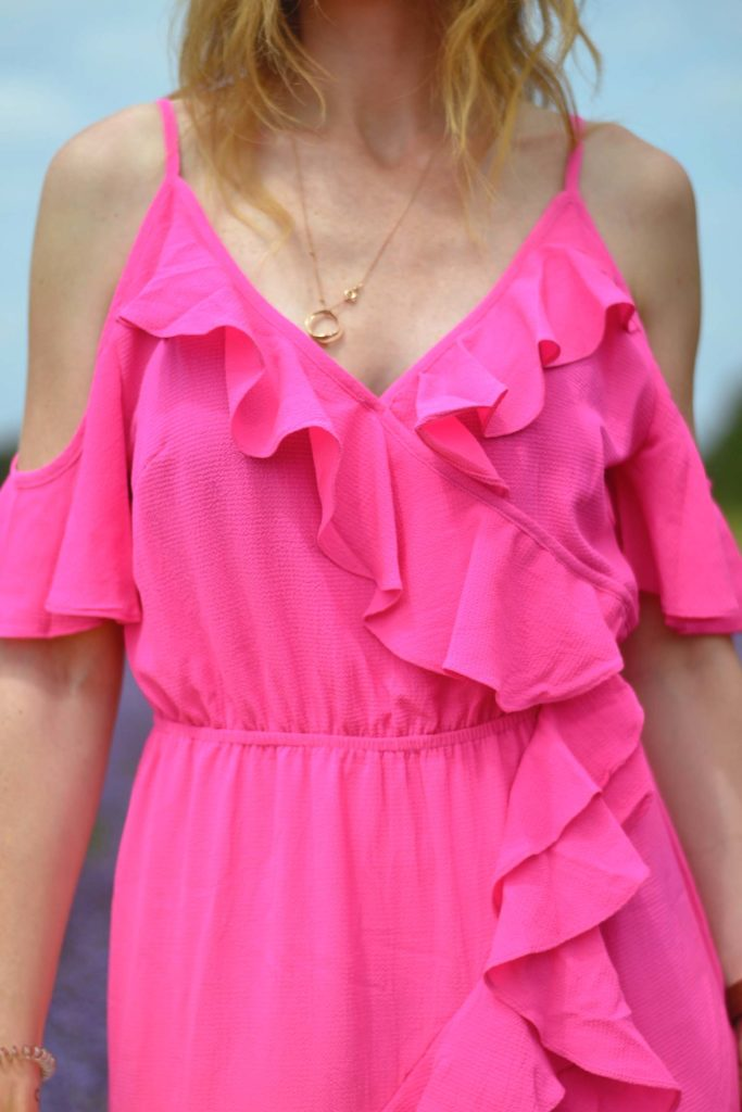Rosa Kleid in Provence