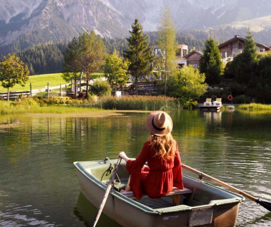 Bootfahrt im Teich