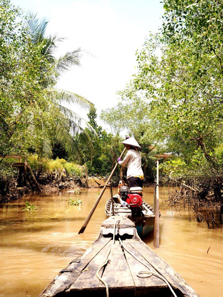 Paddeln auf Mekong River