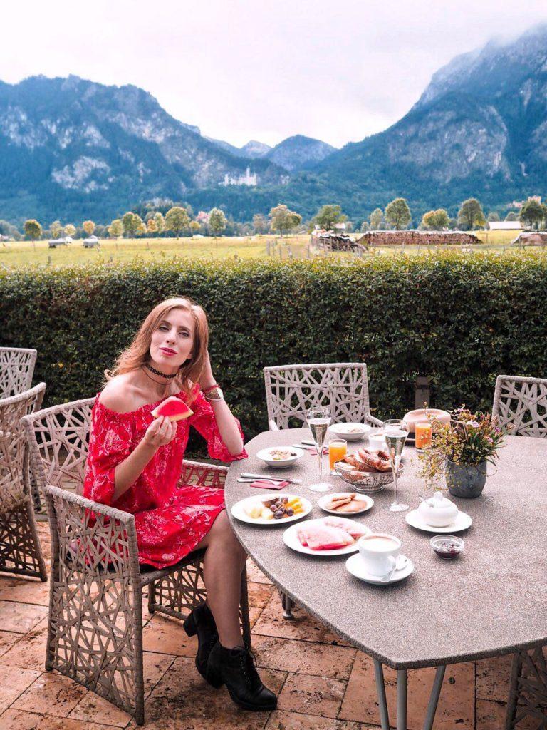 Frühstück mit Aussicht im Rübezahl