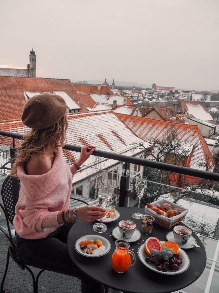 Aussicht Hotel Eisenhut Rothenburg ob der Tauber