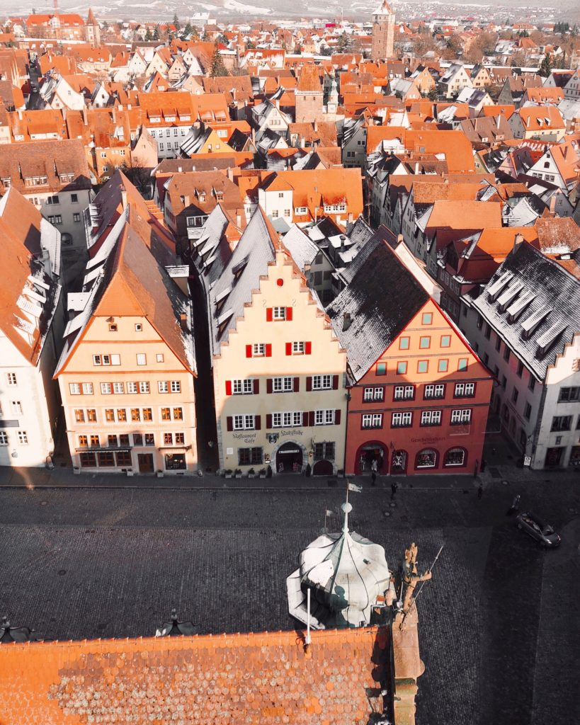 The view above the city Rothenburg ob der Tauber