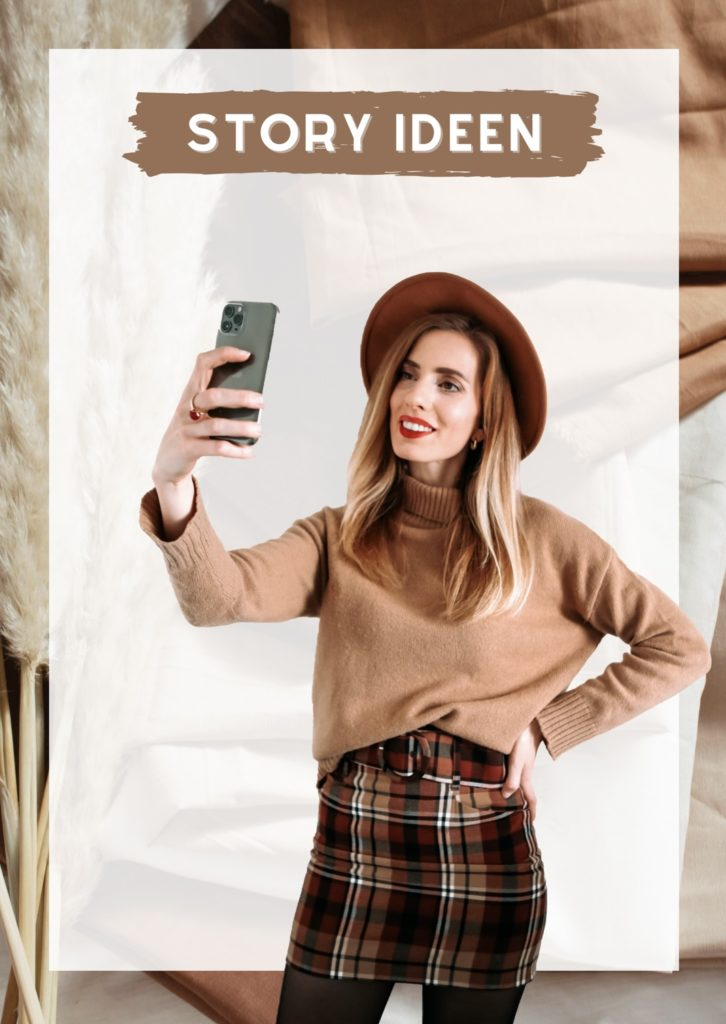 Eine junge Dame macht mit dem Handy ein Selfie